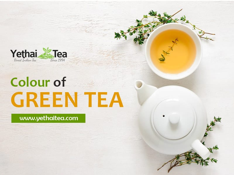 Why is Green Tea when Brewed bcomes Yellow in Color