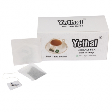 Yethai CTC Assam Black Dip Tea Bags,30 Tea Bags – 60gms | Tea Powder from Assam | No Chemicals | 100% Natural | Fresh Tea Powder | Easy to use and Carry