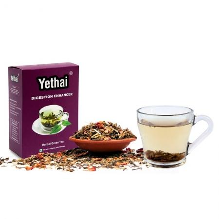 Digestion Enhancer Green Tea, 100 gms (Min. 70 Cups) | Loose Leaf Tea | No Chemicals | Herbal Green Tea | Blend of Premium Green Tea with Rich Herbs of India | Ayurveda Tea