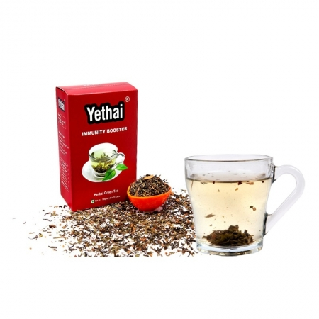 Immunity Boosting Tea | 100 gms (Min. 70 cups) | Loose Leaf Tea | No chemicals | 100% Natural | Herbal Green Tea | For Men, Women, Children | Ayurveda Tea
