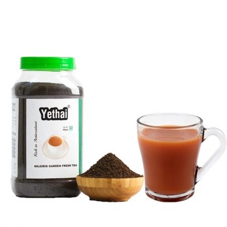 Nilgiris Garden Fresh Black Tea | Yethai CTC Nilgiris Black Tea | Loose Leaf Tea Powder from Nilgiris | No Chemicals | 100% Natural | Fresh Tea Powder