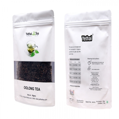 Oolong Tea | 50gms (Min 35 Cups) | Loose Leaf Tea | No Chemicals | 100% Natural | Darjeeling Tea | Fresh Tea Powder | Perfect Weight Loss Tea for Men and Women
