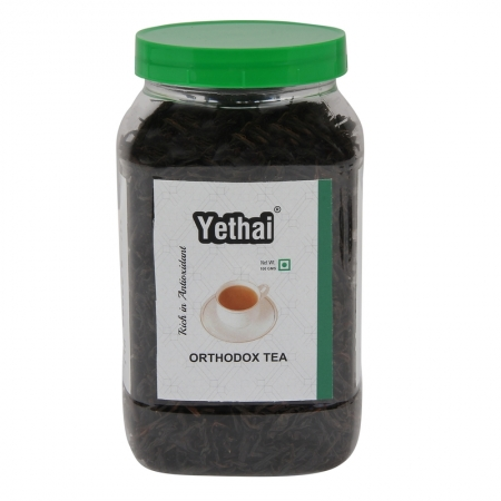 Orthodox Tea | Yethai Orthodox Black Tea, 100 GMS (Min. 50 Cups) | Loose Leaf Tea Powder from Assam | Orange Pekoe Tea | No Chemicals | 100% Natural | Fresh Tea Powder
