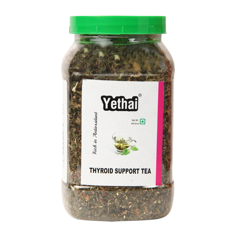 Thyroid Support Tea | Thyroid Tea | Antithyroid Herbal Green Tea 100g (Min. 70 Cups) | Loose Leaf Tea | No Chemicals | Herbal Green Tea | Blend of Premium Green Tea with Rich
