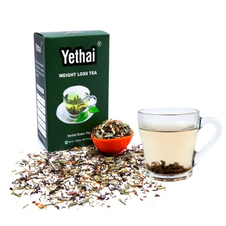 Weight Loss Tea; 100gms (Min 70 cups) | Loose Leaf Tea | No chemicals | Herbal Green Tea | Blend of Premium Green Tea with Rich Natural Herbs of India | Fresh Green Tea Powder
